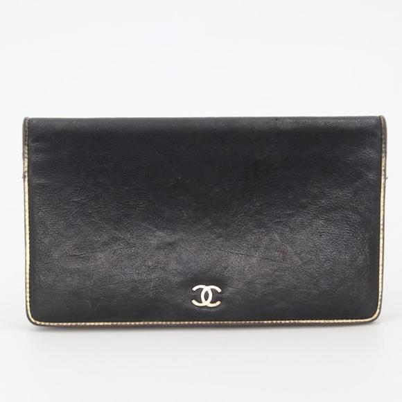 Chanel Handbags - Lambskin Leather Sevruga CC Long Flap Wallet
